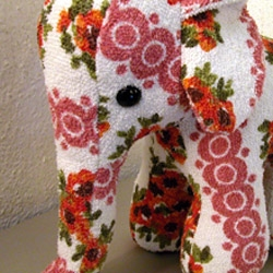 how cute is this terrycloth elephant toy?