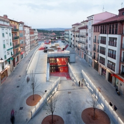 Teruel-zilla! – Underground Leisure Lair and Public Space | The Intervention in the Domingo Gascón Square.