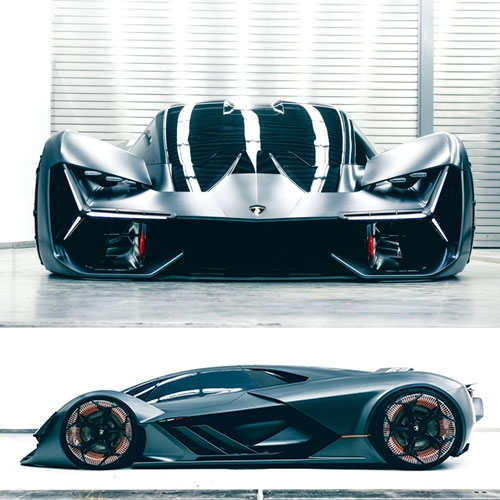 Lamborghini Terzo Millenio - an electric hypercar concept made in collaboration with MIT.