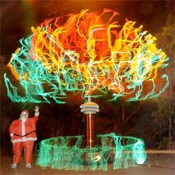 Awesome tesla xmas tree in australia ~ it's 30ft!