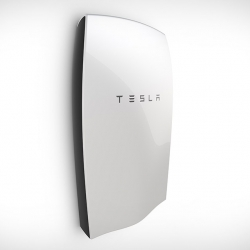 The first Tesla Energy product is 'Powerwall Home Battery,' a stationary battery that can power a household without requiring the grid.