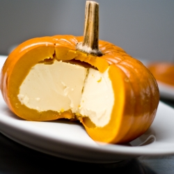 """This """"pumpkin pie"""" takes the name quite literally. Part of a West Asian inspired Thanksgiving dinner."""