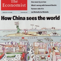 How China sees the World, one of the most amazing covers of The Economist I've seen.