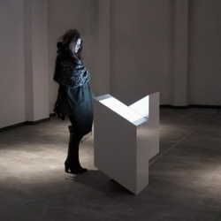 Oscillating Continuum by Ryoichi Kurokawa, audiovisual sculpture.