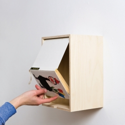 A Book Box presents the beloved long-not-read book, mounted to the wall. Framed and exhibited, with a new functionality. By Aust & Amelung.