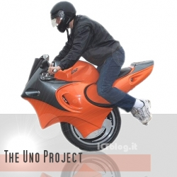 The Uno is a segway/motorcycle mashup. Technically it has two wheels, but they're right next to each other and it does balance on them under its own power.
