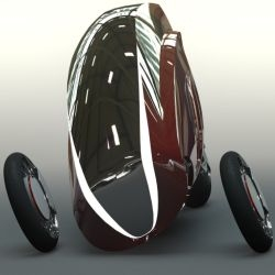 The Tuirrean is a crossover between a car and a motorcycle and designed to let people travel in a safe yet Eco-friendly manner.