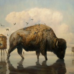 Martin Wittfooth's newest painting 'Passage' for Art Toronto 2012 from October 26 - 29. This large piece will be on display in Lyons Wier Gallery, booth 1218.