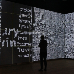 Type/Dynamics by LUST - The Dutch design studio created a new interactive installation for the exhibition 'Type/Dynamics' at the Stedelijk Museum in Amsterdam.