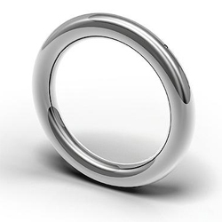 To22 created a continuous ring, delicately proportioned, beautifully polished and seemingly flawless. There is only one tiny imperfection...