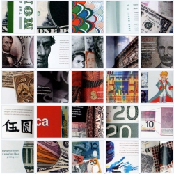 The Art of Money Booklet. A design analysis of typography, iconography, color and technologies used on major paper currency of the world. Written and designed by Yordan Silvera.