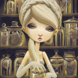 """The Collector"" a new limited edition giclee print by Shannon Bonatakis."
