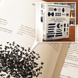 """""""The Geometry of Pasta"""" book pairs over 100 authentic recipes from critically acclaimed chef, Jacob Kenedy, with award-winning designer Caz Hildebrand's stunning black-and-white designs."""