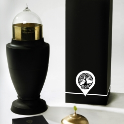 "Matilda Wigg Erixon, A graduate from Central Saint Martins in London, has designed "" My Life Urn"",a modern memento mori reminding the living of their own mortality in a caring & beautiful way."