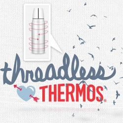 Interesting collaborations ~ Threadless Loves Thermos ~ designs for both tees and thermos