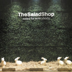 I love the fun interior of The Salad Shop in Singapore!