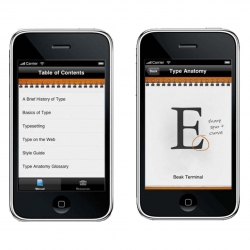 The Typography Manual app for the iPhone and iPad touch from Justin Stahl.