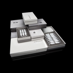 El Studio's packaging for The White Solution, a series of teeth bleaching products.