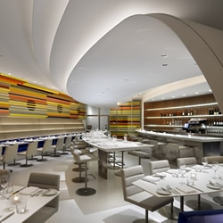 The Wright is a wonderfully designed new restaurant and bar located within, and paying homage to, Frank Lloyd Wright's architectural classic, New York's Solomon R. Guggenheim Museum.
