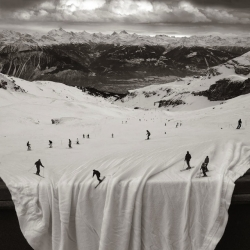 Thomas Barbéy uses his photos to create artistic montages of a imaginary concepts, which are technically made with a combination of negatives or pre-planned double exposures.