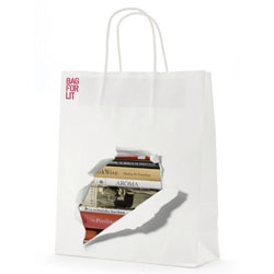 Cute library bags created by Oneighty creative and Thom Isom Design for the Lancashire County Council.