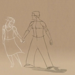 "Fantastic 2D traditional animation ""Thought of You"" by Ryan J Woodward."