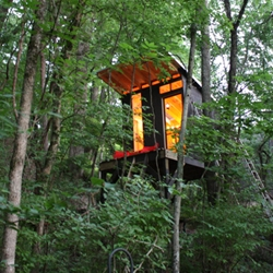 8' x 8' modern treehouse in Nashville, Tennessee.