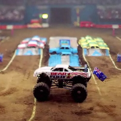 Tilt-shift video of a Monster Truck rally makes everything look like your childhood sandbox. Impressive time lapse footage by Keith Loutit.
