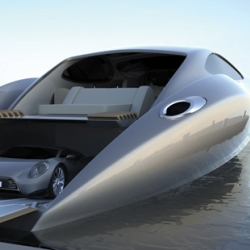 Strand Craft solves the age-old problem: what to do when your $29million super yacht cant go exactly where you want? Just drive the 375km/hr super car out the back!