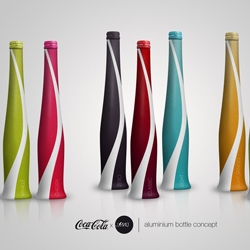 Julien Muller created concept bottles for Coca Cola and all its different version. Stunning.
