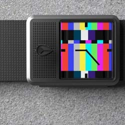 Nixon's new prototype watch by Lysandre Follet. It's a TV watch with a really pretty design