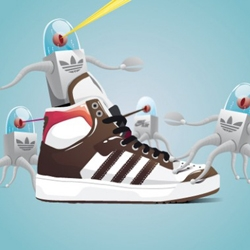 Julien Renault, french graphic-designer, draws sneakers in an amazing way, and worth a look.