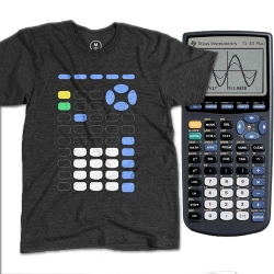 Minimalist representation of your old high school friend (TI-83 calculator) on a t-shirt, launched with Cotton Bureau. Go celebrate tactile interfaces by wearing one!