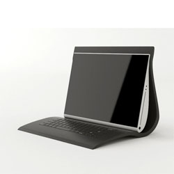 "Tian Deng's ""Soft"" laptop encloses the keyboard and screen in a single silicone shell."