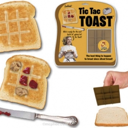 Finally, a good reason to play with your food! The Tic Tac Toast stamper combines the fun of tic-tac-toe with the tastiness of toast.
