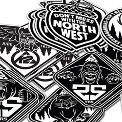KDU for K2 Snowboards' 25 Year Anniversary collection ~ Don't Mess With The North West ~ love the graphics with beavers, owls, bears, deer, and bigfoot!