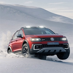 Volkswagen Tiguan GTE Active Concept - interesting Modular Tansverse Matrix (MQB) technology and off-roading with 4MOTION Active Control drive. It's a pug-in hybrid with 148hp gas engine with 2 electric motors.