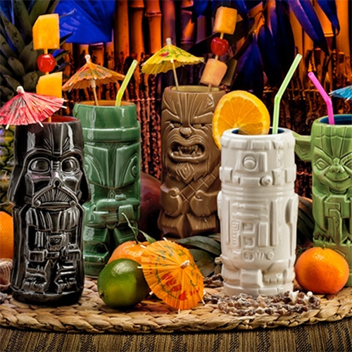 Star Wars Geeki Tikis - Boba Fett, Chewbacca, Darth Vader, R2-D2, a Stormtrooper, or Yoda. Think Geek exclusive.