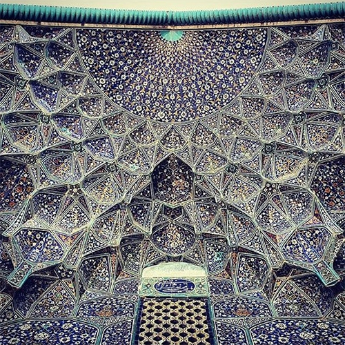 Instagram user @m1rasoulifard shares inspiring looks at the tiled ceilings and architecture of Iran