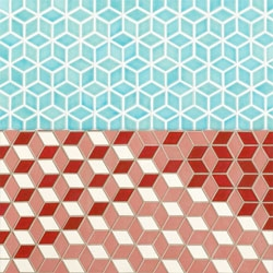 Dwell + Heath Ceramics = gorgeous Patterns Tiles! Love the cube optical illusion potential...