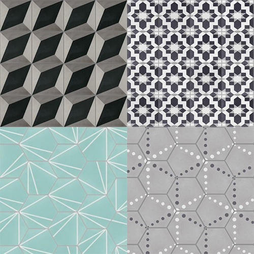 Villa Lagoon Cement Tiles have some mesmerizing, exclusive patterns.