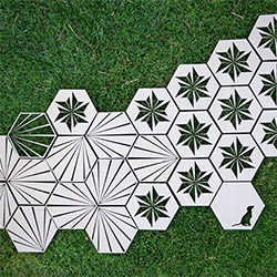Lasercut Cardboard Hexagon Tiles! Day 2 of the NOTlabs Laser Challenge... exploring the possibilities of laser cutting cardboard, hexagons, tiles, stencils, and more...