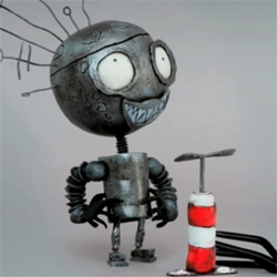 Tim Burton directs a new animated spot for the MOMA (involving blowing-up the MOMA logo)...