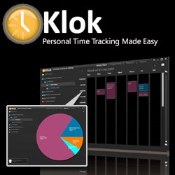 Klok ~ another little mac app i was just introduced to thats great for tracking your time ~ whether its freelance projects or email vs design time... and it makes gorgeous pie graphs!