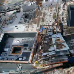 Check out this time lapse video that spans eight years in ninety seconds. It shows the construction of the 9/11 Memorial in Lower Manhattan, which opens this September.