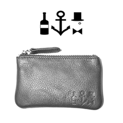 Charles Tonner of Berlin has the cutest logo pressed into all of their leather accessories.