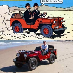 WOW. Crave found this link that combines a love of TINTIN & CARS ~ so every tintin car - with their real world counterpart.