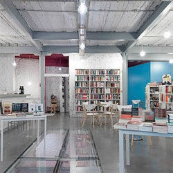 Tipos Infames, a coffee and book shop in Madrid by MYCC.