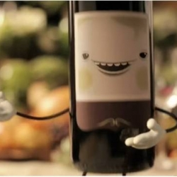 The folks at Pysop have come up with Tipsy - an animated bottle of red wine with a French accent - to advertise the upcoming Sonoma Film Festival.