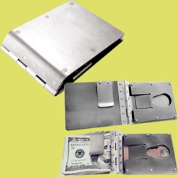 titanium wallet by Gary Scott USA.  Available at guyshop.com
